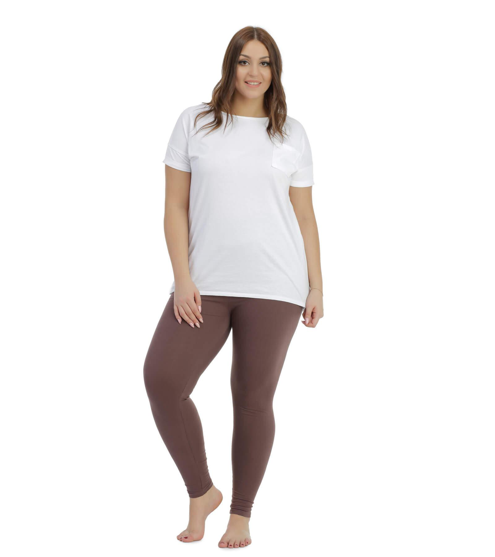 Brązowe legginsy ciążowe Bensini
