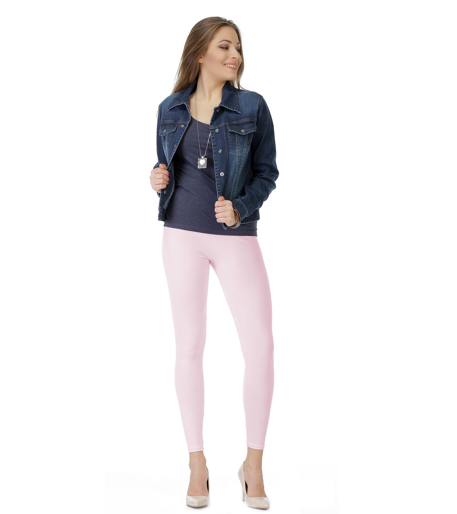 Różowe legginsy do kostek Bensini®