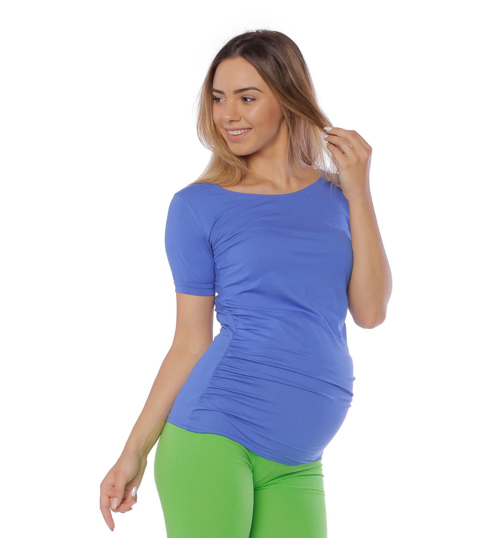 Chabrowa bluzka ciążowa Sonia Royal Blue Bensini®