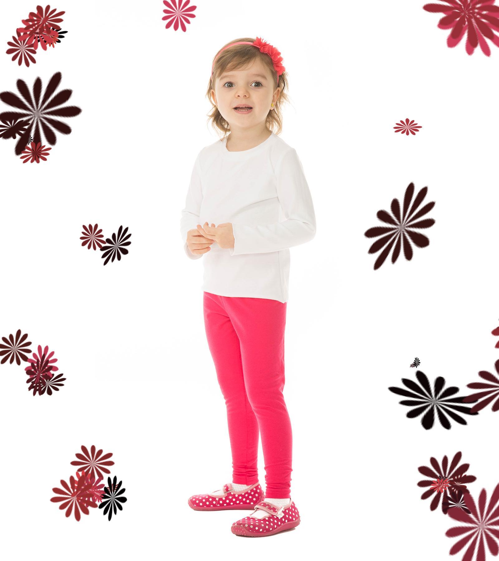Amarantowe legginsy dla dziewczynki Bensini ®