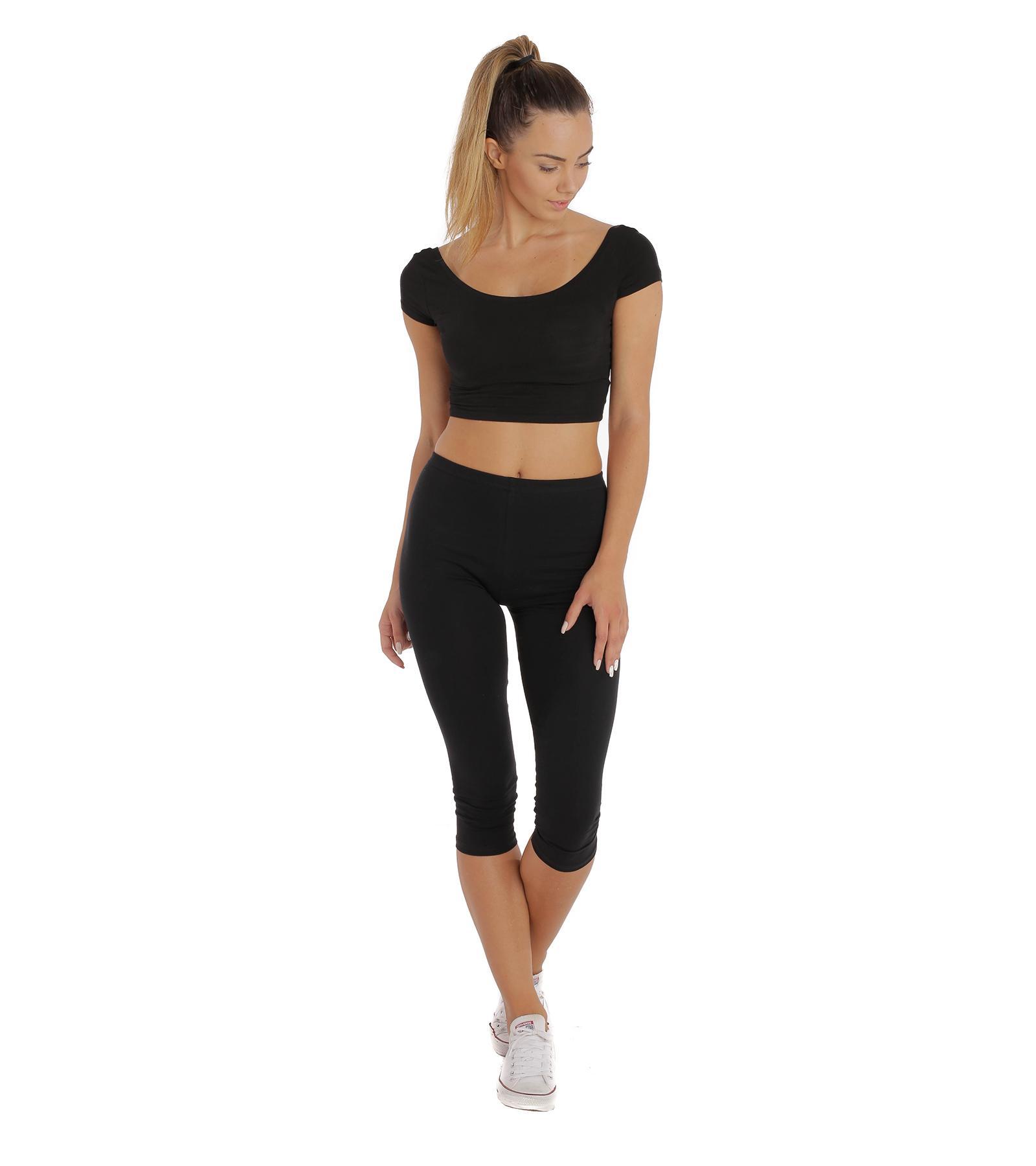 Czarne legginsy damskie do fitness BENSINI®