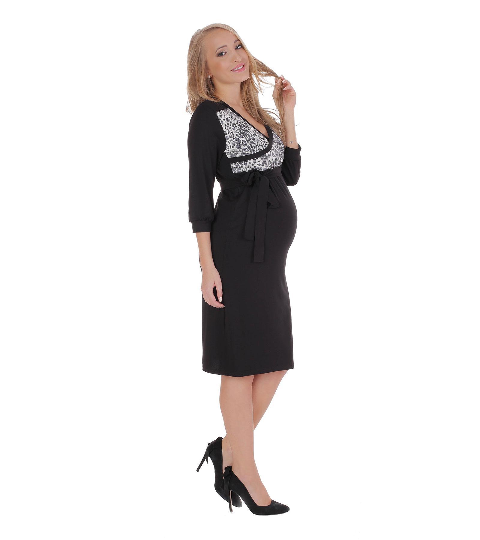 Czarna sukienka ciążowa Chanel Black Bensini®