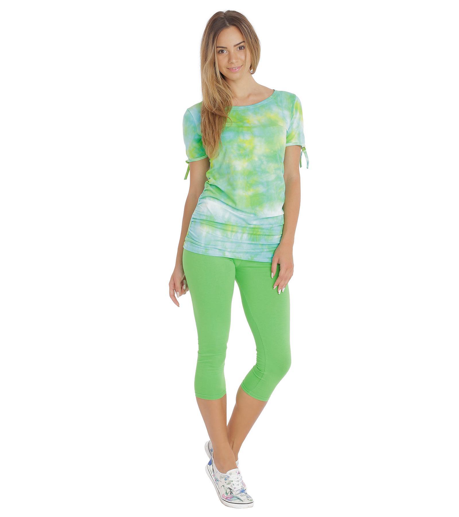 Zielone legginsy do łydki Bensini®