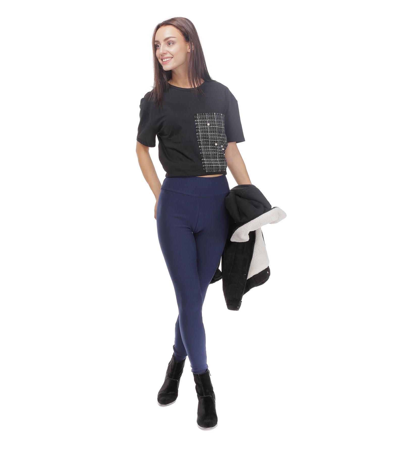 Granatowe ocieplane legginsy Selena Bensini®