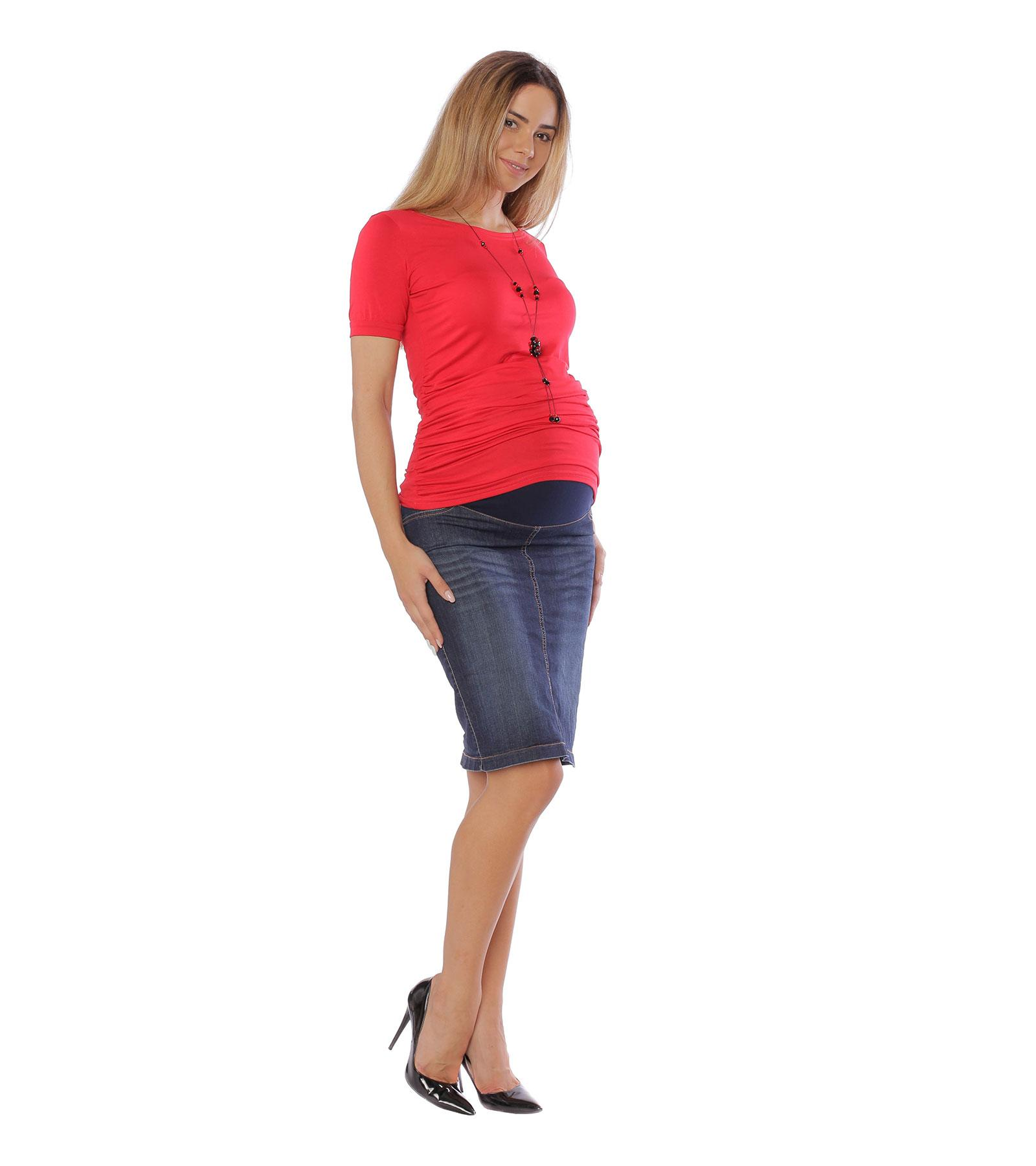 Jeansowa spódnica ciążowa Klara z regulowanym pasem ciążowym Bensini®