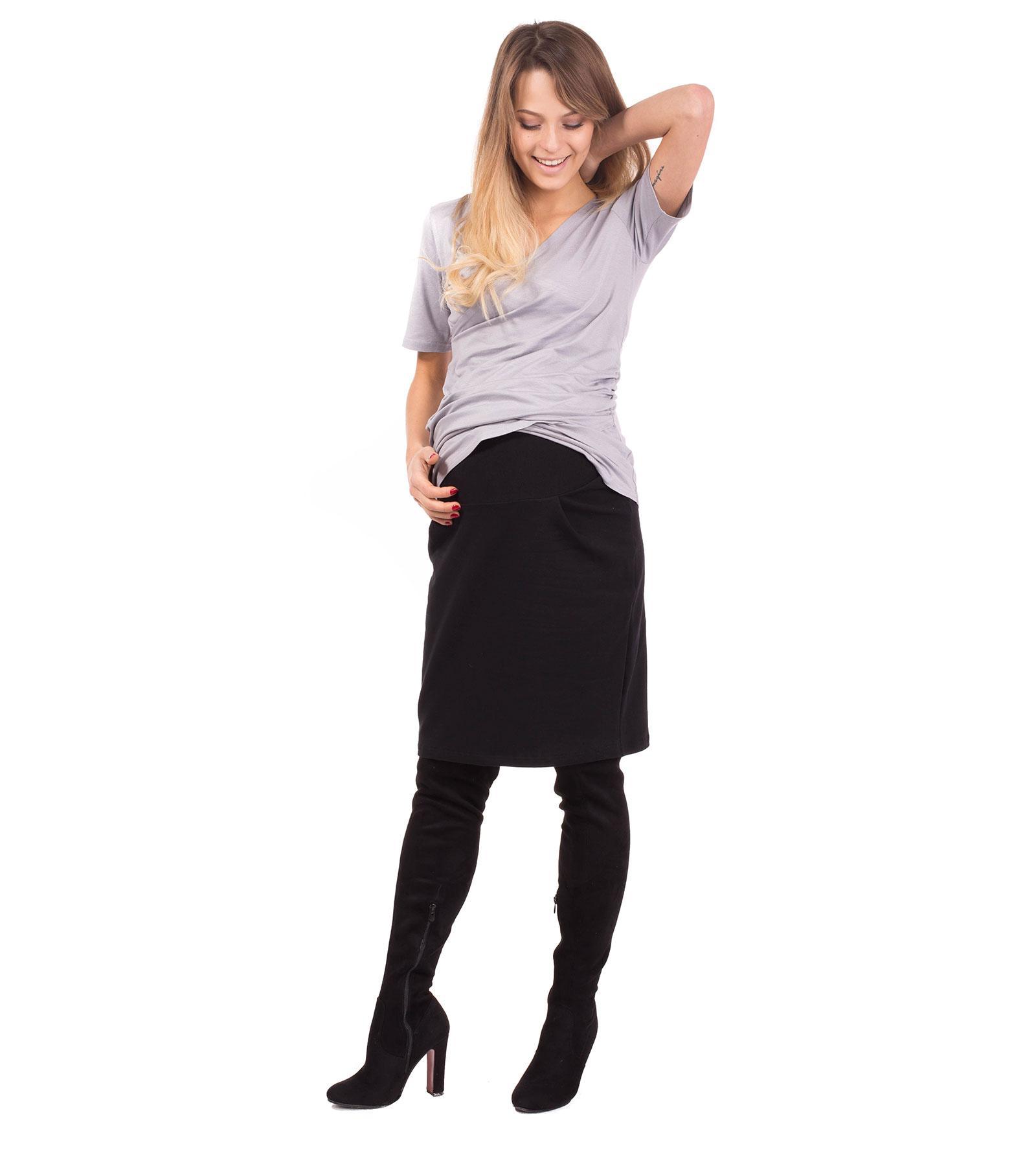 Czarna spódnica dla kobiet w ciąży Kelly Bensini®
