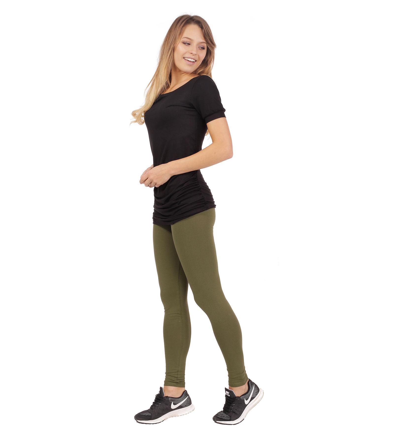 Oliwkowe legginsy do kostek Bensini®