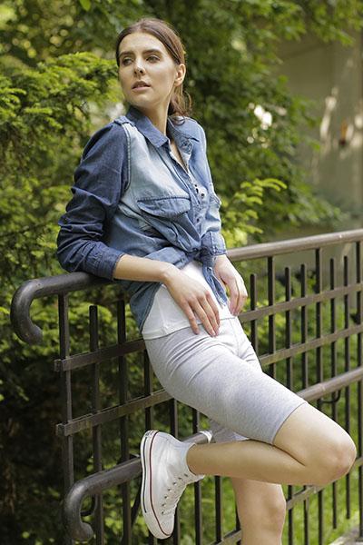 Krótkie legginsy damskie Bensini