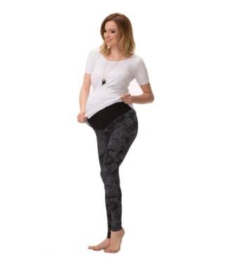 Długie wzorzyste legginsy ciążowe Diana Bensini