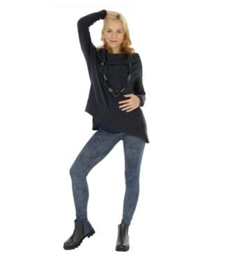 Długie wzorzyste legginsy ciążowe Roksana Bensini