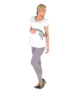 Długie wzorzyste legginsy ciążowe Sabina Bensini