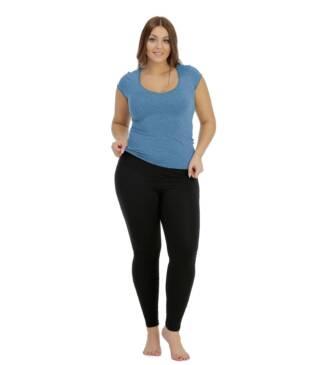 Czarne legginsy Plus Size Bensini