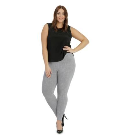 Wzorzyste legginsy wyszczuplające Plus Size z wysokim stanem Sabina Bensini