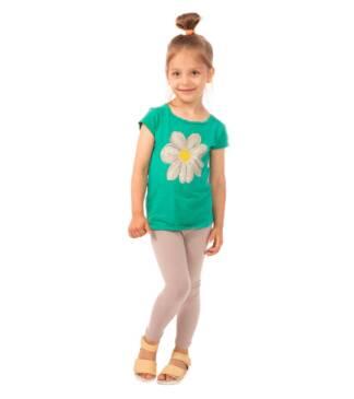 Beżowe legginsy dziewczęce Bensini