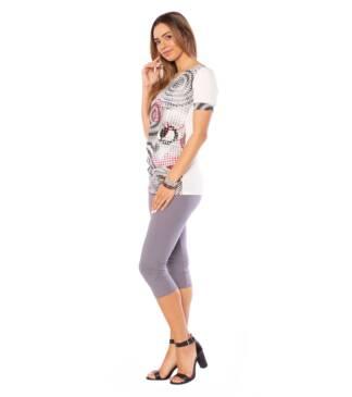 Zestaw: bluzka ciążowa Natalia, legginsy ciążowe Bensini