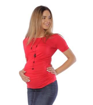 Czerwona bluzka ciążowa Sonia Bensini