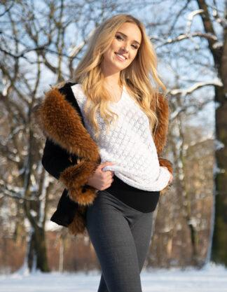 Ciepłe jesienno zimowe legginsy ciążowe Weronika Bensini