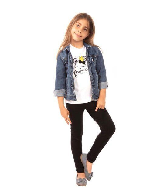 Czarne legginsy dziecięce