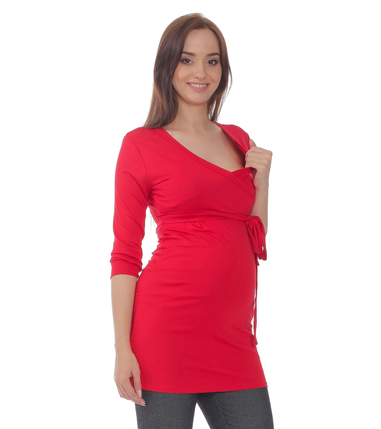 Czerwona bluzka ciążowa Dominika Bensini®