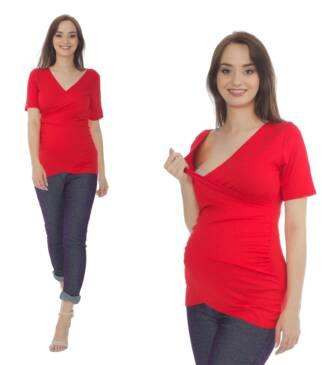 Czerwona bluzka ciążowa Daria Bensini