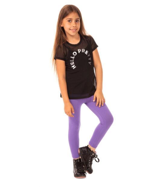Fioletowe legginsy dziecięce