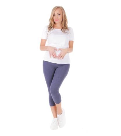 Jeansowe rybaczki ciążowe Bensini