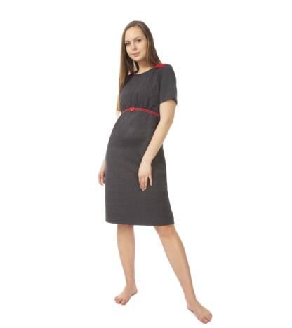 Koszula nocna ciążowa Elen z czerwoną koronką Bensini®