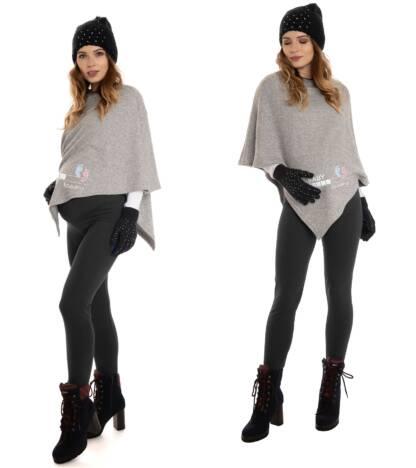 Ciepłe legginsy ciążowe, czarne Bensini