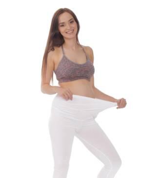 Białe legginsy ciążowe Classic Bensini
