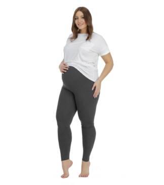 Grafitowe legginsy ciążowe Plus Size Classic Bensini