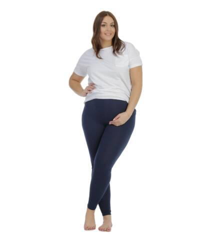Granatowe legginsy ciążowe Classic Bensini®