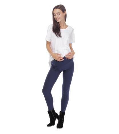 Granatowe legginsy ciążowe Exclusive Bensini®