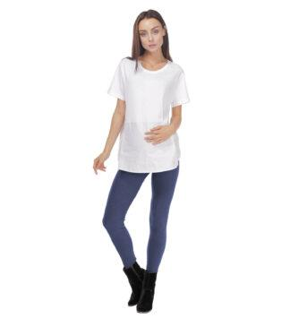 Ciemno niebieskie legginsy ciążowe Exclusive Bensini®