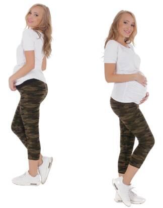 Drukowane legginsy ciążowe do łydki Carmen Bensini