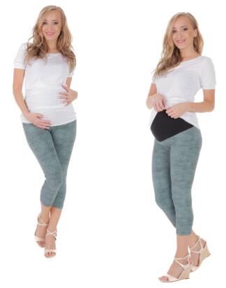 Drukowane legginsy ciążowe do łydki, Doris Bensini
