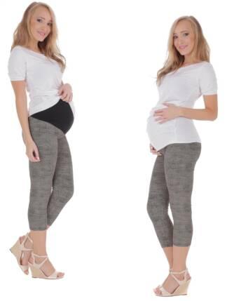 Drukowane legginsy ciążowe do łydki Karolina Bensini