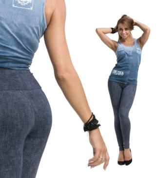Legginsy damskie Bensini - imitacja jeansu
