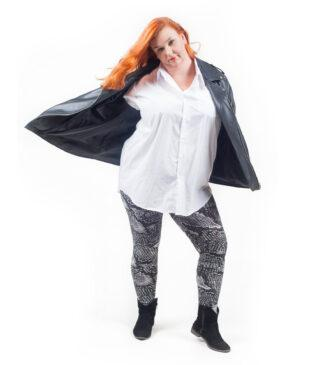 Wzorzyste legginsy damskie Plus Size Tina Bensini