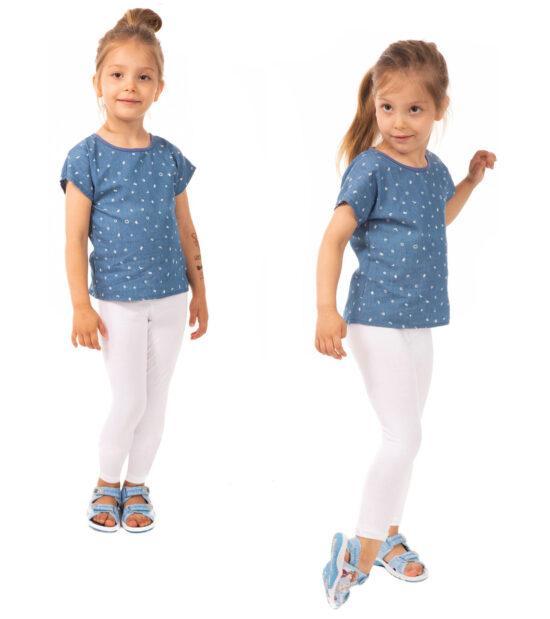 Białe legginsy dziecięce