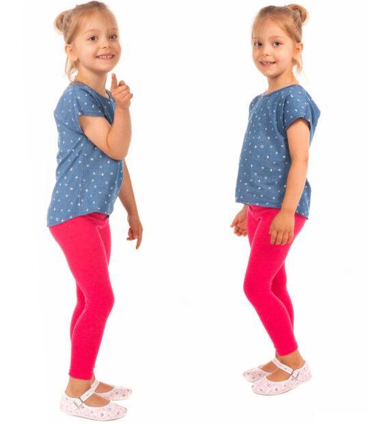 Amarantowe legginsy dziecięce