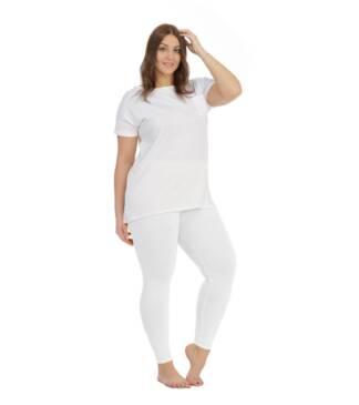 Białe legginsy, getry Plus Size Bensini