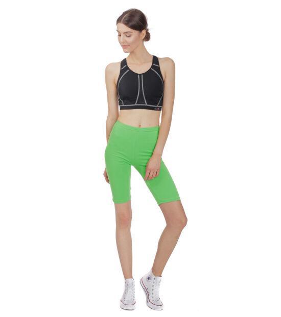 Krótkie legginsy damskie, zielony