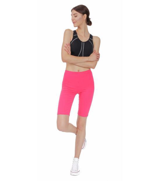 Krótkie legginsy damskie, amarant