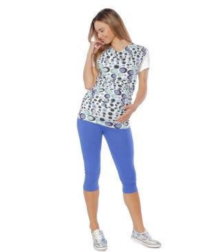 Chabrowe legginsy ciążowe classic, rybaczki Bensini