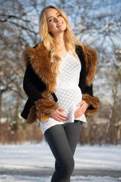 ocieplane jesienno zimowe legginsy ciazowe weronika bensini