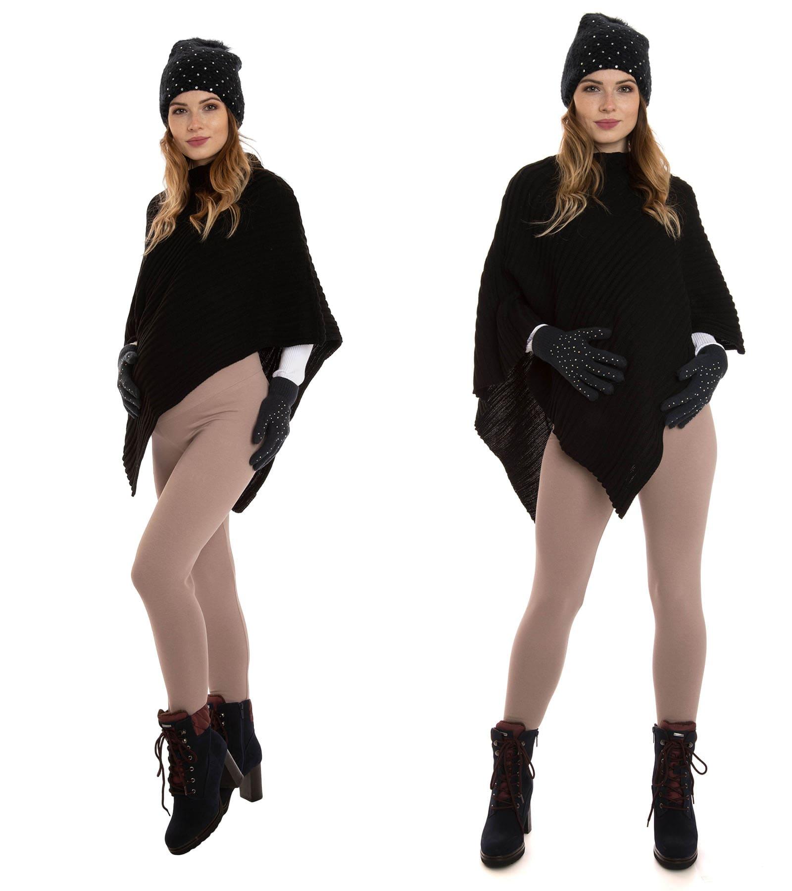 Ciepłe legginsy ciążowe, beżowe Bensini