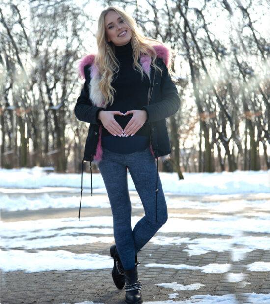Ocieplane legginsy ciążowe Roksana