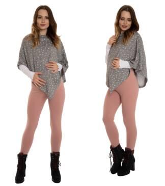 Ciepłe legginsy ciążowe, różowe Bensini