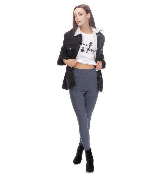 Ocieplane legginsy damskie, jeans