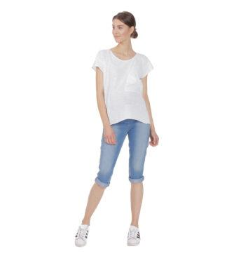 Jeansowe spodnie, rybaczki ciążowe Oxana Bensini